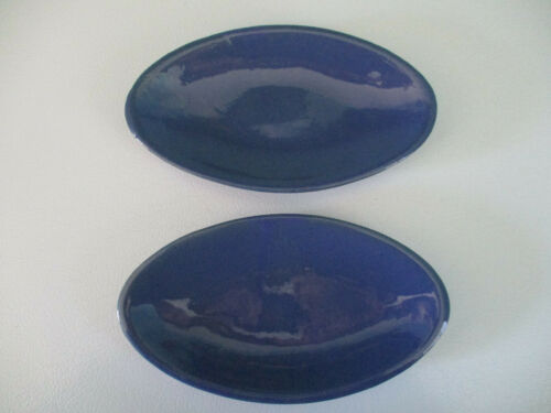 VTG Bybee Pottery Kentucky, Relish Trays/Corn on Cob Dishes Lot of 2 Bybee Blue