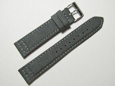 22mm Hadley-Roma MS850 Mens Grey Cordura Canvas Watch Band S