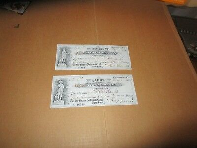 Antique First National Bank Cooperstown Check Lot Home Of Baseball Hall Of Fame