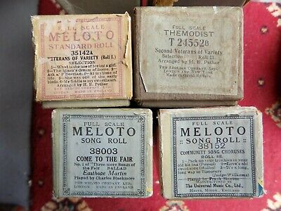 Pianola Piano Rolls x4 Veterans of Variety 1+2 Come to The Fair Community Songs