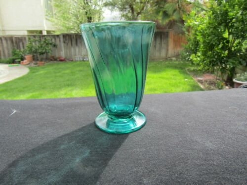 "Teal - Ultramarine SWIRL 9 Oz Footed Tumbler 4 5/8"" x 3¼"""