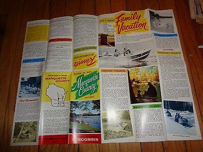 Marquette County Wisconsin Brochure Montello Oxford Westfield