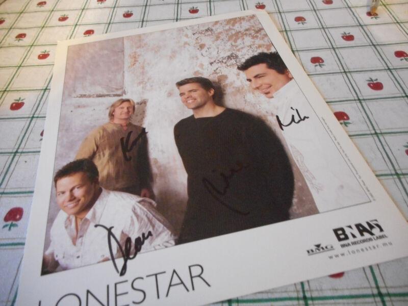 Autographed Lonestar Color 2003 Publicity Photo