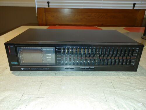 Sherwood EQ470R Stereo 9-Band Graphic Equalizer EQ w Spectrum Analyzer