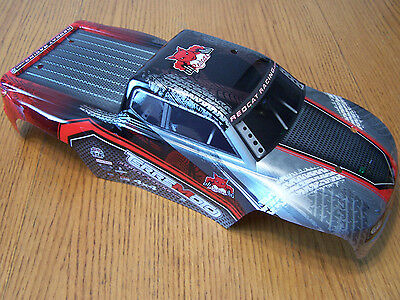Redcat Racing Terremoto V2 1/8 Red Black Silver Painted Body w/ Decals BS810-031