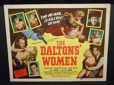 Lash LaRue The Daltons' Women 1950 orig Title Lobby Card # 1 Fine Western