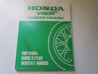 HONDA VISION NB50M/NE50M SHOP MANUAL 67GN200