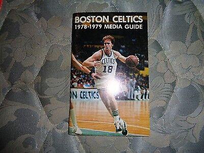 1978-79 BOSTON CELTICS MEDIA GUIDE Press Book Basketball 1979 Program NBA AD