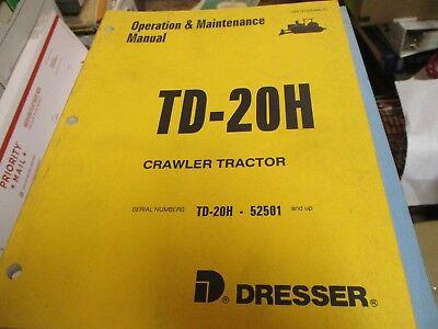 Dresser Komatsu Td-20h Crawler Tractor Operation Maintenance Manual