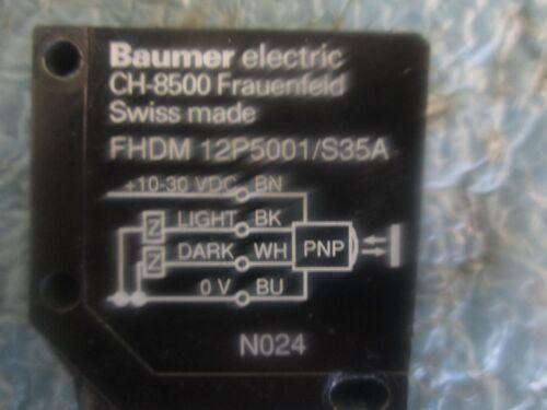 Baumer Electric Model: FHDM 12P5001/S35A Photoelectric  Sensor   <