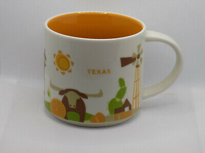 Starbucks Texas USA 'You are Here' Collector Series Coffee Mug 14oz NEW