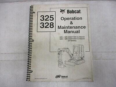 Bobcat 325 328 Operation Maintenance Safety Manuals Mini Excavator 2001