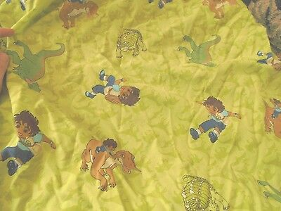 - Go Diego do flat and fitted toddler bed dinosaur rare CUTTER fabric material