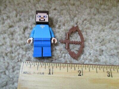 LEGO Minecraft Steve minifigure with bow and arrow - Minecraft Bow And Arrow Toy