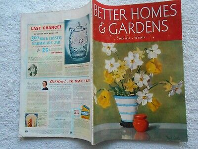 BETTER HOMES & GARDENS Magazine-MAY,1935-NAT LITTLE COVER (Best Covering Interior Paint)