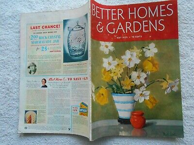 BETTER HOMES & GARDENS Magazine-MAY,1935-NAT LITTLE COVER