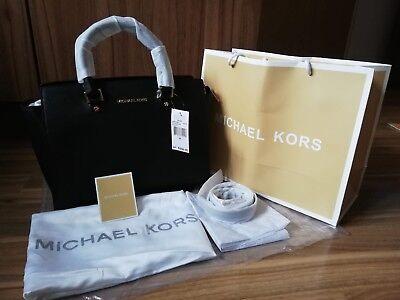 BNWT Michael Kors Large Selma Black Satchel Handbag