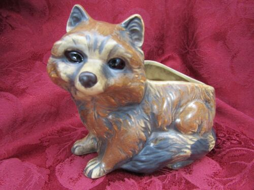 Vintage Ardco Fine Quality Ceramic Racoon Planter Figure C2766 Made in Japan