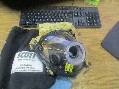 Scott Model Av-3000-ht Scba Firefighter Mask With Scott 805534-01 Bag