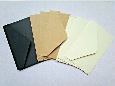 White Black Retro Small Blank Mini Paper Envelopes Wedding Party Vintage 20 Pcs