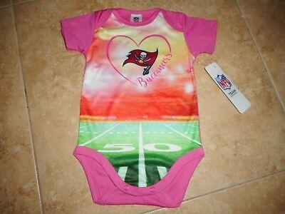 Tampabay Football Buccaneers Baby Onesie sz 3-6 months New NFL Bucs -