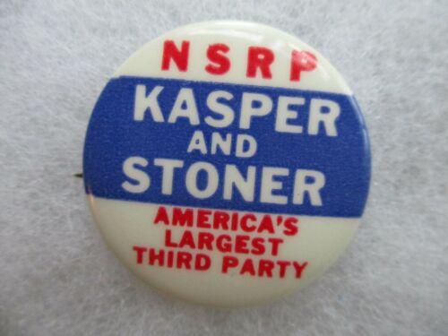 1964 Presidential Pin Back Campaign Button NSRP John Kasper J. B. Stoner