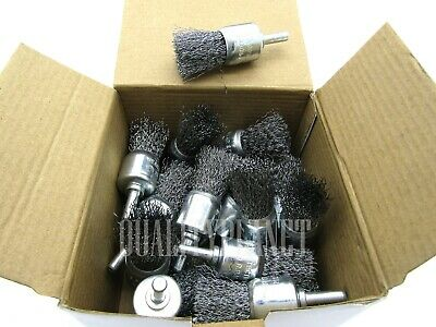20pc Wire Cup Wheel Brushes For Drill 14 Shank Fits All Electric Drills