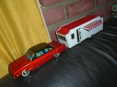 Used, Tin Ford Falcon Car & Trailer Bandai Factory Camper Set Authentic Vintage Japan for sale  Oyster Bay