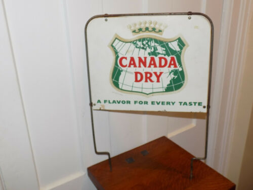 Canada Dry Flavor For Every Taste Metal Display Topper Sign