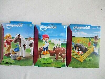 Lote PLAYMOBIL 70416 Y 70420 70424 La Granja Animales Personajes Y Accesorios