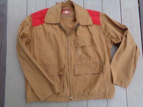 Vintage 60s Ideal Fishing Jacket Vest Fly Hunting NICE Tan Sz 46 L