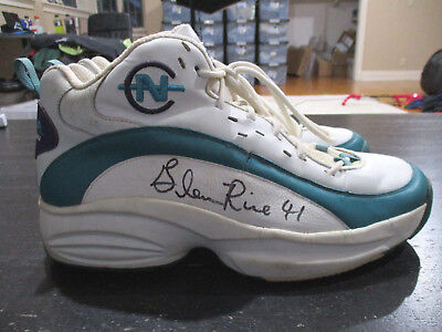 9571501522b Glen Rice Nautica Competition Shoes Charlotte Hornets Game Used Worn  Basketball
