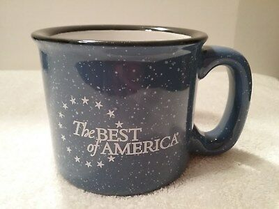 "The Best Of America Heavy Ceramic Coffee Mug Tea Cup Multi Color 3 1/2"" Tall"
