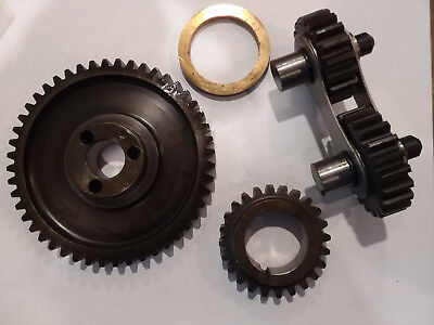 (Gear Drive QUIET Steel Dual Idle Timing Set FORD 351C 351M 400 Cleveland Block)