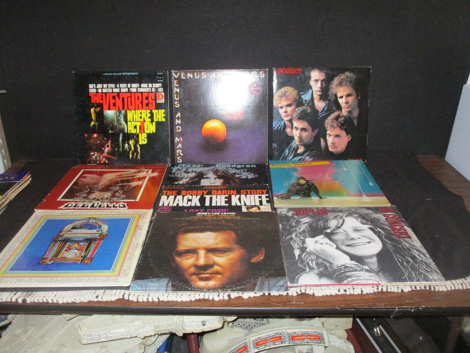 ROCK AND ROLL LOT OF 19 VINTAGE VINYL RECORDS ALBUMS JOPLIN ZZ TOP SANTANA L@@K