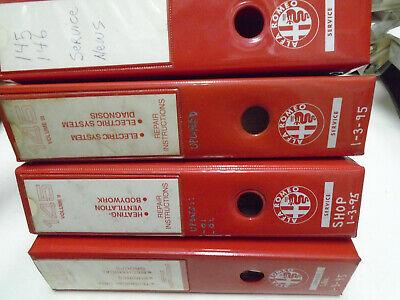 1990s Alfa Romeo 145 Service Repair Shop Manual Factory OEM 4 Volume Book Set **