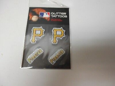 Pittsburgh Pirates Glitter Tattoos 4 per pack. Pretty neat!  #599](Pittsburgh Pirates Tattoos)