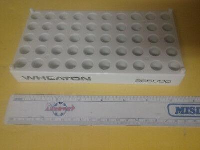 Wheaton 985800 White Vial Rack For 50 Hplc Or Gc 2 Ml Vials For 12 Mm Dia Vials