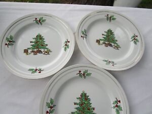 3 Tienshan Holiday Hostess Christmas Tree 8 1/4