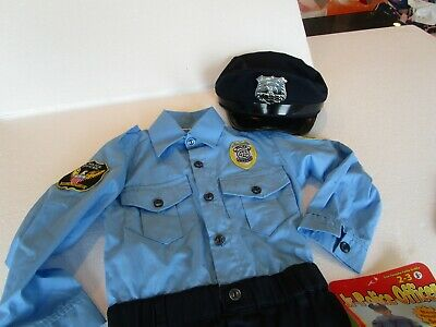 Pottery Barn Kids Junior Jr. Halloween Police officer costume 2 3  New