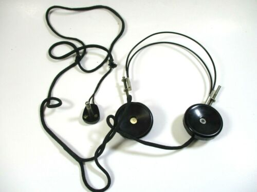 Vintage Zenith Transoceanic Radio Headphones Early 1900s