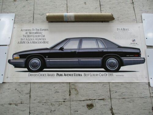 Original Dealer Showroom Poster & Mailing Tube - 1991 Buick Park Avenue