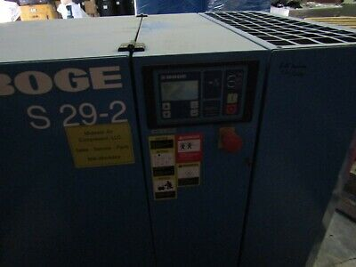 Boge S-29-2 30hp. Rotary Screw Air Compressor Warranty Low Hours Wdryer