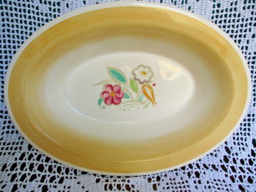 VINTAGE ESTATE SUSIE COOPER YELLOW NOSEGAY OVAL VEGETABLE BOWL DISH
