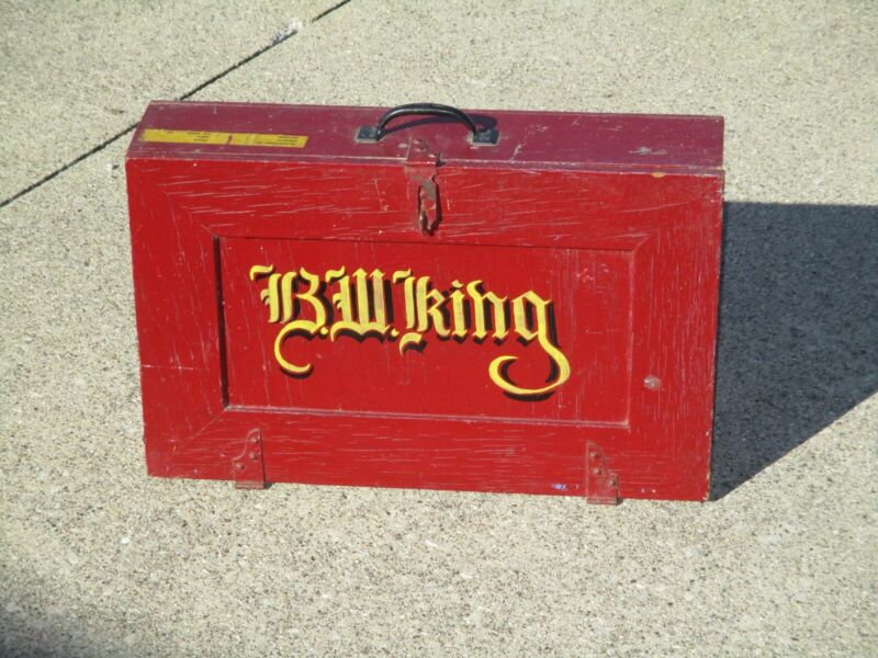 Primitive Painted  Painters Box