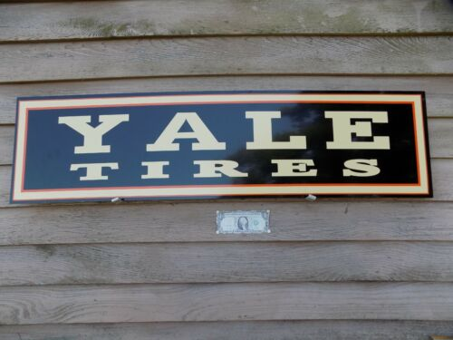 C. EARLY/VINTAGE STYLE YALE TIRES DEALER 3 COLOR SIGN 1