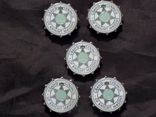 Grand Council Knight Masons Freemason  Silver Button Covers Masonic NEW!