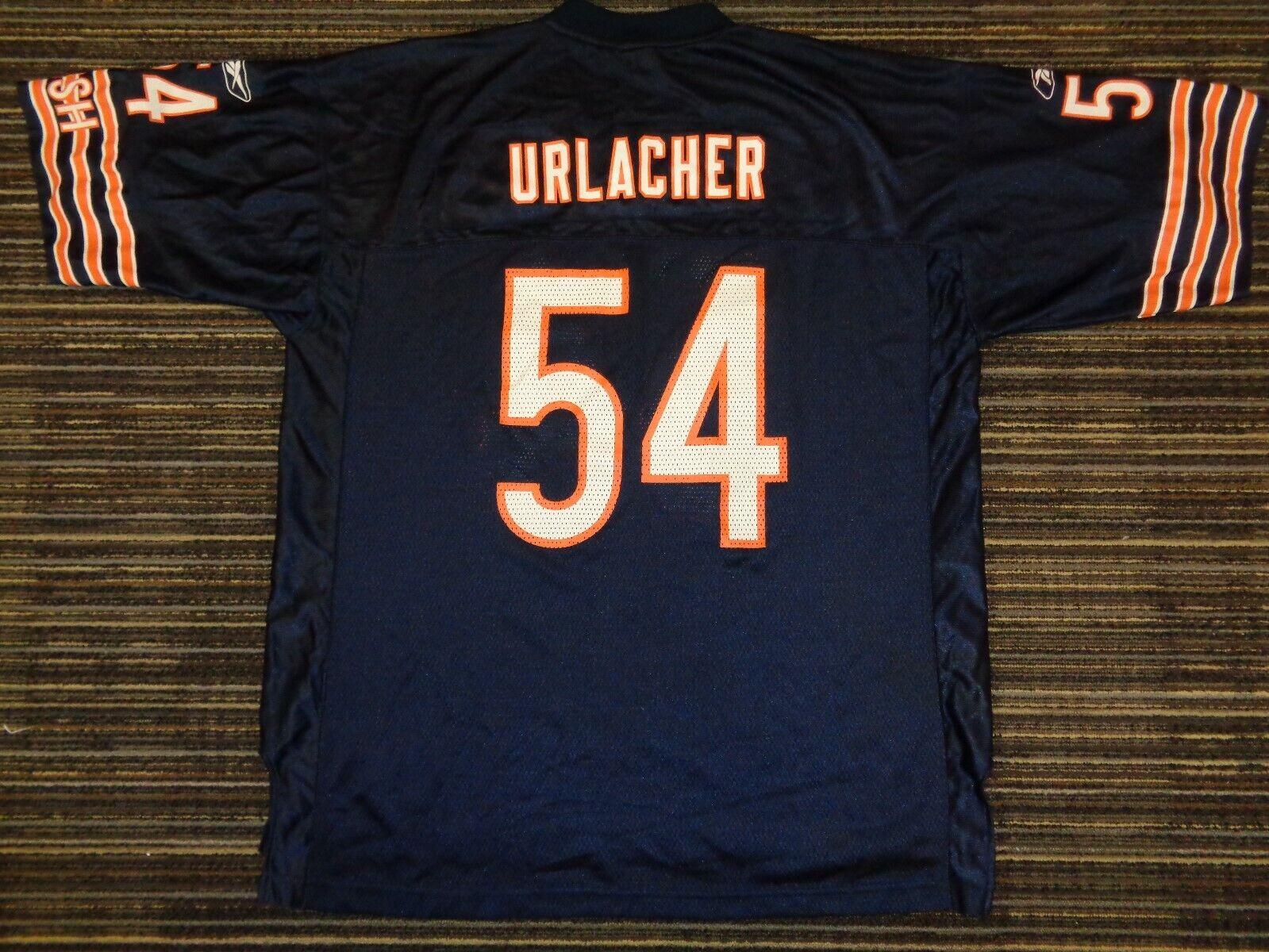 BRIAN URLACHER 54 CHICAGO BEARS GSH REEBOK MENS NFL GAME FOOTBALL JERSEY XLG - $29.99