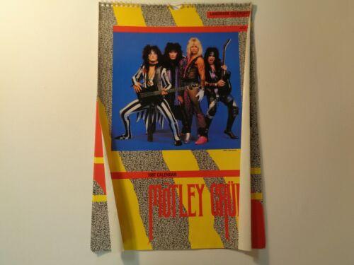 Vintage Motley Crue Rock Calendar 1987, Full, 17x11, Vince Neil, Tommy Lee