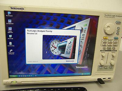 9231 Tektronix Tla7012 Logic Analyzer Touch Screen W Tla7aa4 Tla7pg2